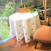 テーブルクロスオロペサ丸円形直径180Rcm日本製ジャガード織りスペイン生地