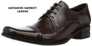 キャサリンハムネット 靴 ビジネスシューズ 本革 KATHARINE HAMNETT 31601 ダークブラウン メンズ 紳士 ストレートチップ レザーシューズ ビジカジ
