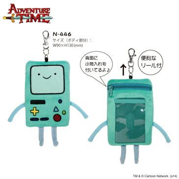 アドベンチャー・タイム ぬいぐるみパスケース ビーモ BMO Adventure Time