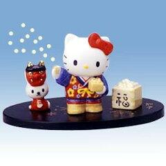 ハローキティ 豆まき【ハローキティ】キティマンスリーフィギュア「2月如月」豆まき(節分)
