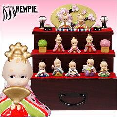 雛人形 ローズオニールキューピー / キューピーお雛様 三段飾り コンパクト収納飾り ひな人形…