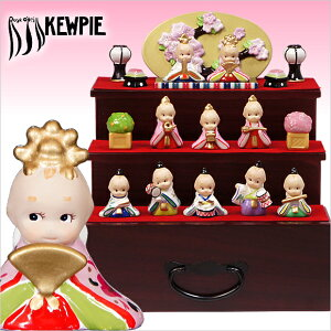 雛人形 ローズオニールキューピー人形 キューピーお雛様・三段飾り 2015年バージョン コンパクト収納飾り おひなさま ひな人形【送料無料】【RCP】【楽ギフ_包装】