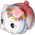 豚の貯金箱 ピギーバンク ブタバンク (中)ピンク Piggy Bank