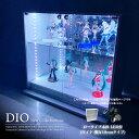 コレクションケース お得なセット コレクションラック DIO ディオ ワイド ロータイプ 本体 鍵付 RGB対応...