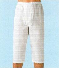 【送料無料】紳士クレープロンパン日本製GSIクレオス(旧グンゼ産業)綿100%ちぢみのステテコLL【ウエスト94〜104cm】白