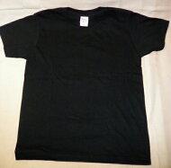 【送料無料】厚地綿100%子供黒Tシャツ半袖100・110・120・130・140・150・160【消費税込】しっかりした、丈夫な生地ですユニフォーム等にもどうぞ