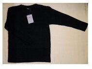 【送料無料】子供長袖Tシャツ黒・白綿100%130・140・150・160【消費税込】★お急ぎの方は速達便(有料320円)にて、発送します。お電話ください。