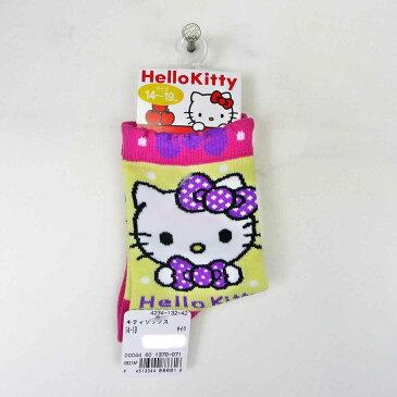 ハローキティソックス女児ソックスキャラクター(サンリオキャラクターソックス、キティ靴下、女の子ソックス、女児ソックス)4234-132