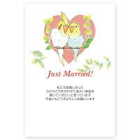 【私製はがき10枚】結婚報告・お知らせはがきWMS-70