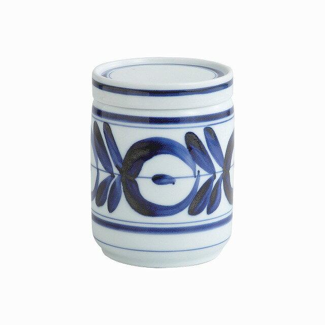 食器, 鉢  L Modern blue stocker flower L. Hasami ware Japanese ceramic.