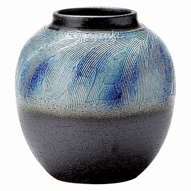 花瓶, その他  Japanese Ceramic Shigaraki ware. Ikebana flower vase. Ryuusai.