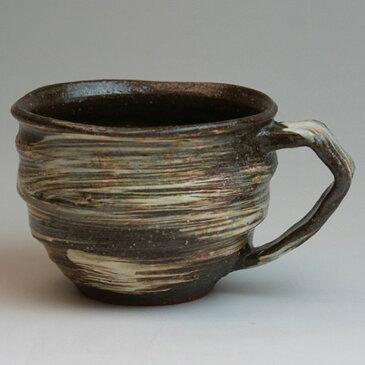 萩焼 マグカップ輪 圭一郎作 化粧箱入 Japanese ceramic Hagi-ware. Rin mug cup made by keiichiro.