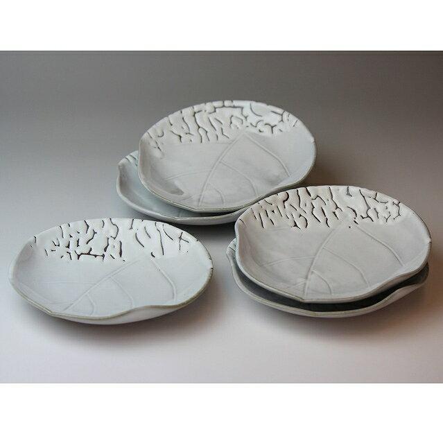 食器, 皿・プレート  Hagiyaki 5 small plates made in Japan. Japanese pottery with wood box.