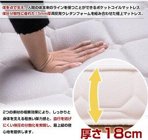 ポケットコイルマットレス(厚さ18cm★シングル)