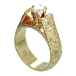 ハワイアンジュエリー リング 14K ゴールド Laule'a ラウレア オーダーメイド レディース 女性 メンズ 男性 ペアリング 指輪 ハワジュフレンチマウントリング(ダイヤモンド入り)ブライダルリング 結婚指輪 送料無料 刻印無料 LOGR004-diamond(0.25ct)-6.5mm
