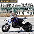 ミニオフロードバイク モトクロスバイク 50cc 2サイクル ポケットバイク KXD706A-1【 送料無料 0113_flash 16 】