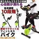 フィットネスバイク 静音 エクササイズバイク ライムグリーン エアロフィットネス バイク HG-QB...