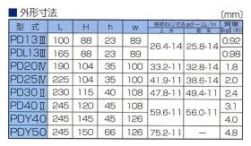 愛知時計電機:小型水道メーター中口径<PD>型式:PD-40(本体)