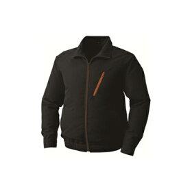 空調服:ポリエステルエステル製長袖ブルゾン(ウェア・ファン2個・ケーブル・電池ボックス)<P-500BN>型式:P-500BNブラックM