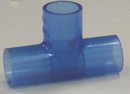 塩ビパイプ継手 クボタケミックス 水道透明チーズ 30A×13A 水道用透明継手
