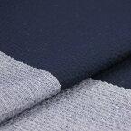 阿波しじら織り 木綿 着物 単衣きもの《仕立代込み》紺地に灰藍大縞 No.H25【受注生産】【送料無料】