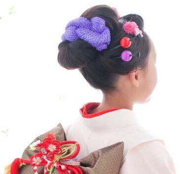 【メール便無料】七五三 髪飾り髪飾り 成人式 鹿の子かのこ ちんころ 振袖日本髪 正絹 舞妓さん 浴衣結い綿 結綿芯(綿)入り