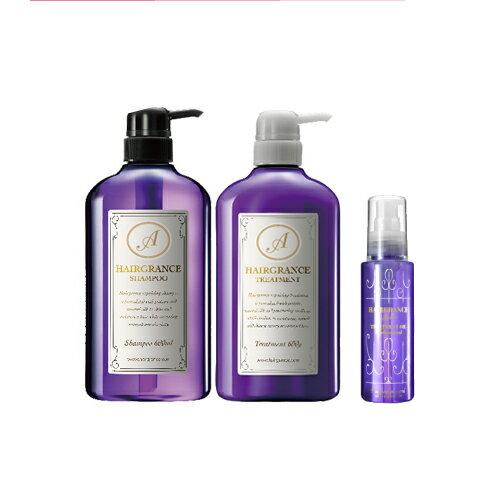 香り成分15%UPでプチリニューアル ヘアグランスアプリュスシャンプー&トリートメント&トリートメントオイル