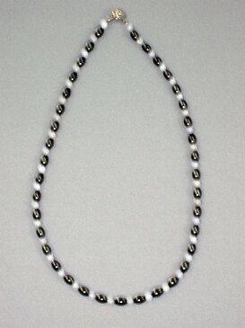 ブルーカルセドニ 磁気ネックレスで「コリ知らず」 宝石の里 山梨県製造品 【送料無料】