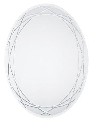 ◎ウォールミラー 45x60cm楕円形(飛散防止フィルム付)