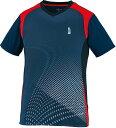 GOSEN(ゴーセン) テニス・ソフトテニス・バドミントン ゲームウェア UNI ゲームシャツ Tシャツ 半袖〈ショートスリーブ〉 【ネイビー】 メンズ・レディース 男性用・女性用 T2004 17 {NP}