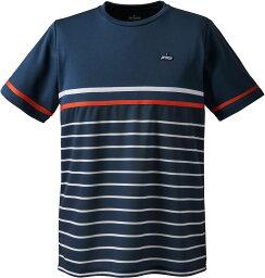 prince(プリンス) バドミントン ゲームシャツ ゲームウェア ゲームシャツ Tシャツ 半袖〈ショートスリーブ〉 【ネイビー】 メンズ・レディース 男性用・女性用 TMU173T 127 {NP}