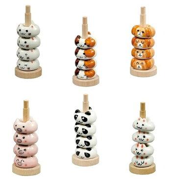 箸置 ハッピーアニマルコレクション 木製ポール付き 田中箸