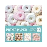 プリントペーパー PASTEL SWEETS パステルスイーツ 4柄×各12枚 48枚入り 折紙 Kyowa-PRINT PAPER-協和紙工 ※