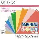 【ワンコインセレクション】パステル色画用紙 B5サイズ 10色20枚入り Kyowa-KRAFT PAPER-協和紙工【RCP】