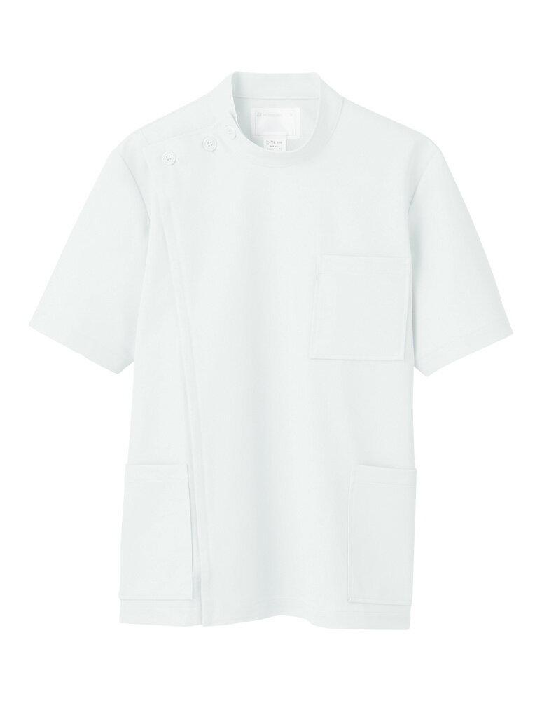 メンズ ケーシー型白衣【半袖】 白衣 男性 ニ...の紹介画像2