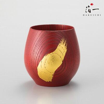 円満達磨 湯のみ(赤)|金沢金箔の箔一(はくいち)|