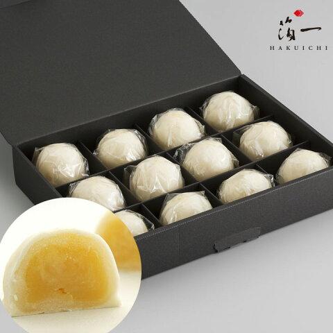 【一の菓】ミルクまんじゅう 雪珠12個入り 金沢金箔の箔一(はくいち)