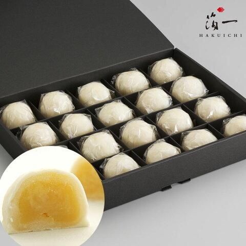【一の菓】ミルクまんじゅう 雪珠20個入り 金沢金箔の箔一(はくいち)