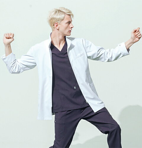 MZ-0056 ミズノ メンズドクターコート(シングル mizuno 白衣 医療用白衣 医師 医者 看護師用 ナー...