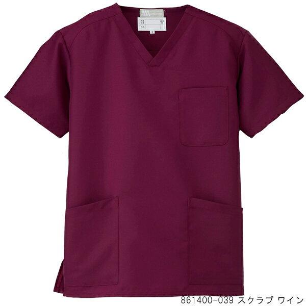861400 アイトス 男女兼用 スクラブ 手術衣 白衣 医療 男性 女性 ケーシー