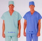 ・136-72.79・手術衣/オペ着スクラブ半袖M〜4L診察衣ドクター