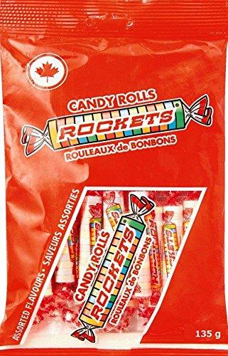 ロケッツ キャンディロール(ラムネ菓子) 135g カナダのキャンディー カナダのお菓子 輸入キャンディー 輸入菓子 海外キャンディ