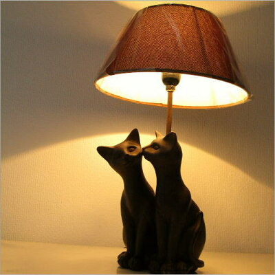 子ネコの表情が可愛いランプスタンド | シェードランプ照明猫雑貨スタンドランプフロアランプリ...