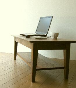 完成品送料無料無垢材木製チークセンターテーブルコーヒーテーブルローテーブルリビングテーブ...