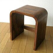スツール テーブル チェアー コンパクト インテリア サイドテーブル アジアン シンプル デザイン ウッドカーブネストスツール