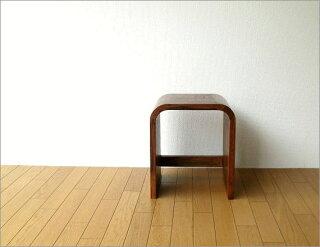 スツール木製ミニテーブル椅子チェアーイスいす花台ウッドコンパクトインテリアサイドテーブルアジアン家具シンプルウッドカーブネストスツールM