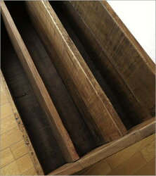 マガジンラック木製アンティーク調雑誌収納絵本ラック絵本棚シャビーシックなマガジンスタンド