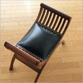 アジアンチェア 無垢材 木製スツール レザースツール 本革 天然木製 スツールチェアー 玄関椅子 腰掛け クッションチェア デザインスツール モダン椅子 おしゃれチェア アンティーク 椅子 インテリアスツール アジアン家具 バリクラブチェアー 一人椅子NEWタイプ