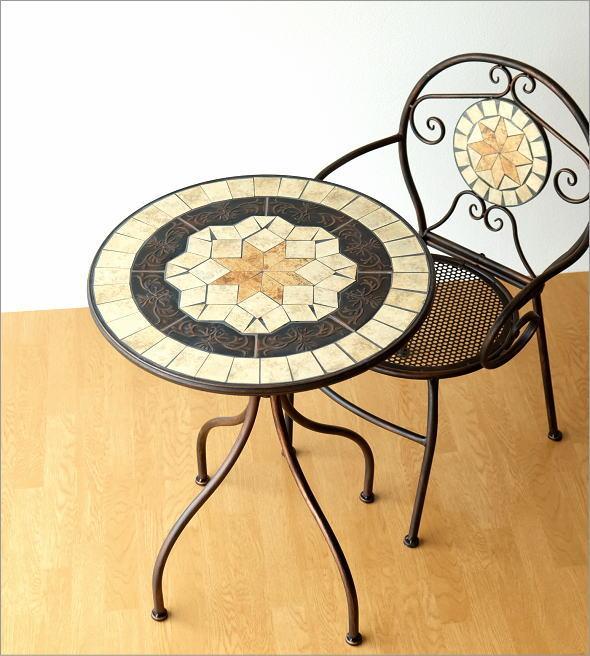 ガーデンテーブルモザイクヨーロピアン