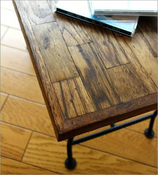 アイアンとウッドの組み木ローテーブル(2)
